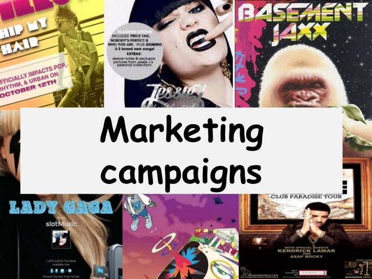 Artist research- Marketing campaigns