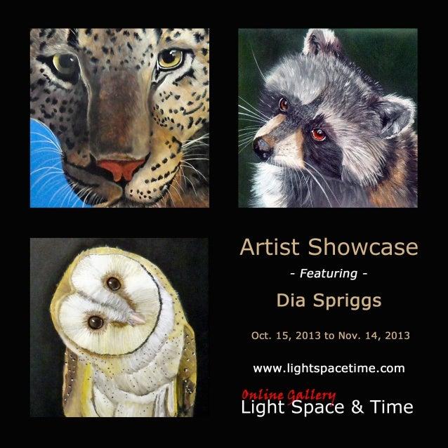 Artist Showcase - Dia Spriggs - Event Postcard