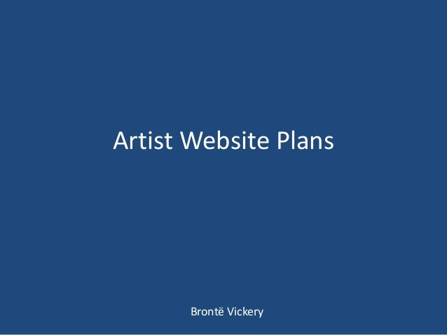 Artist Website PlansBrontë Vickery