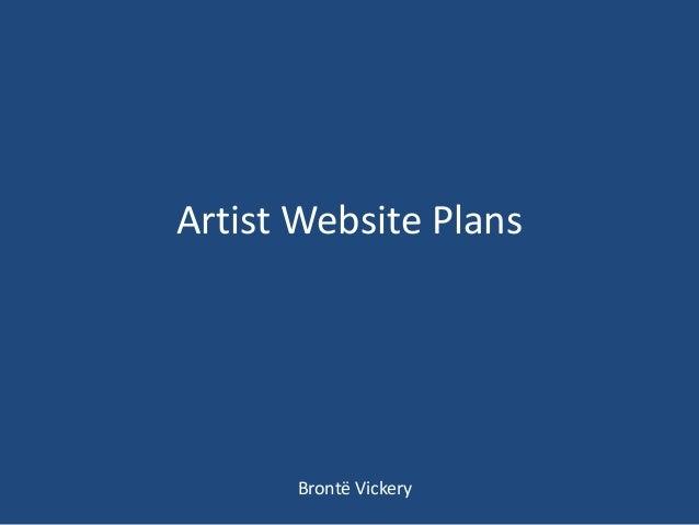 Artist website plans