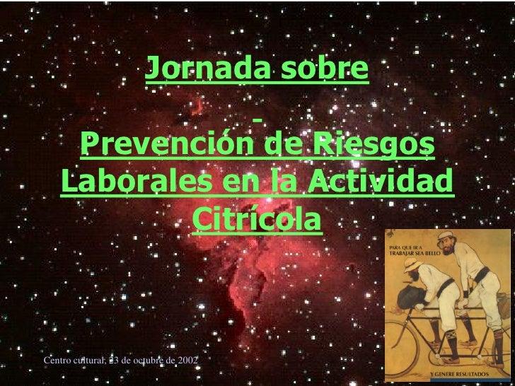 Art Jornadas Jornada Sobre PrevencióN De Riesgos Laboral