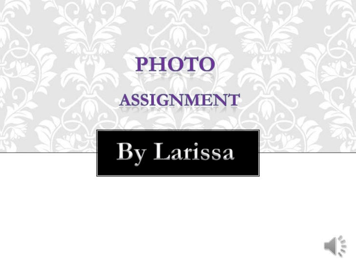 Photo<br /> assignment <br />By Larissa<br />