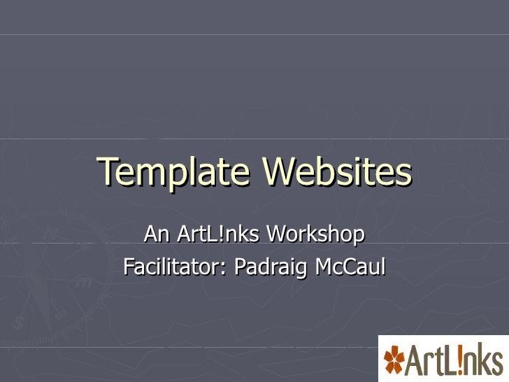 Artlinks Website Workshop P Mc Caul