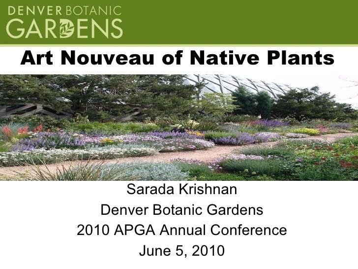 """""""Art Nouveau"""" of Native Plants Krishnan"""