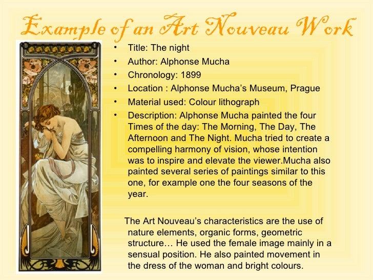 Characteristics Of Art Nouveau Paintings