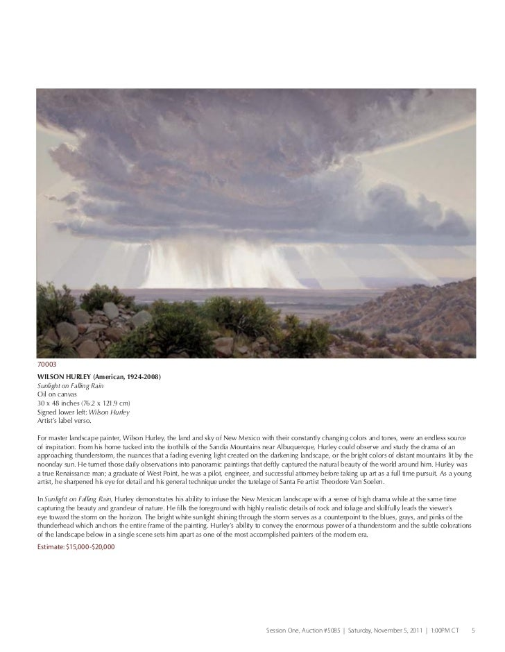 Heritae Auctions Art Of The American West Art Auction