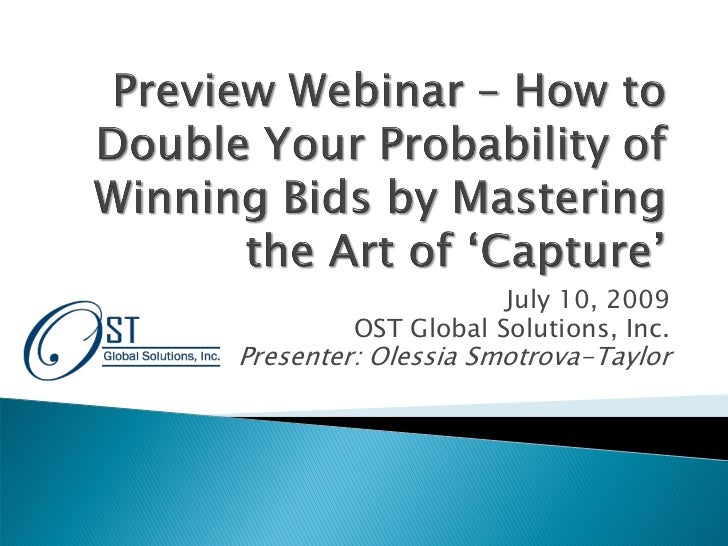 The Art of Capture, Preview Webinar