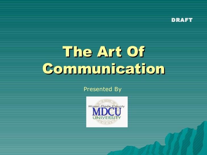 Art of communication