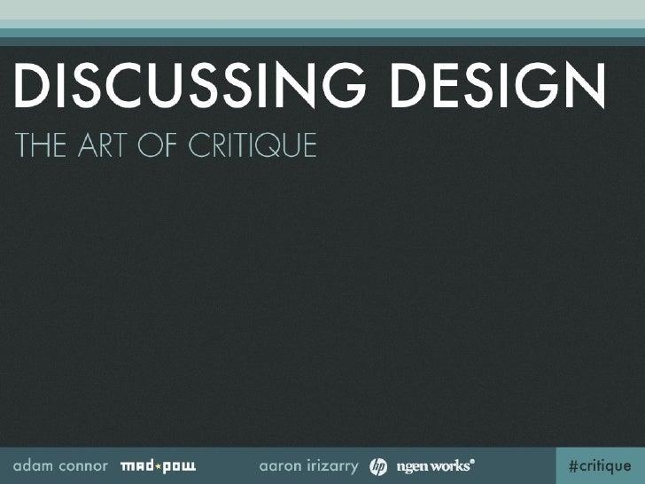 What is critique?