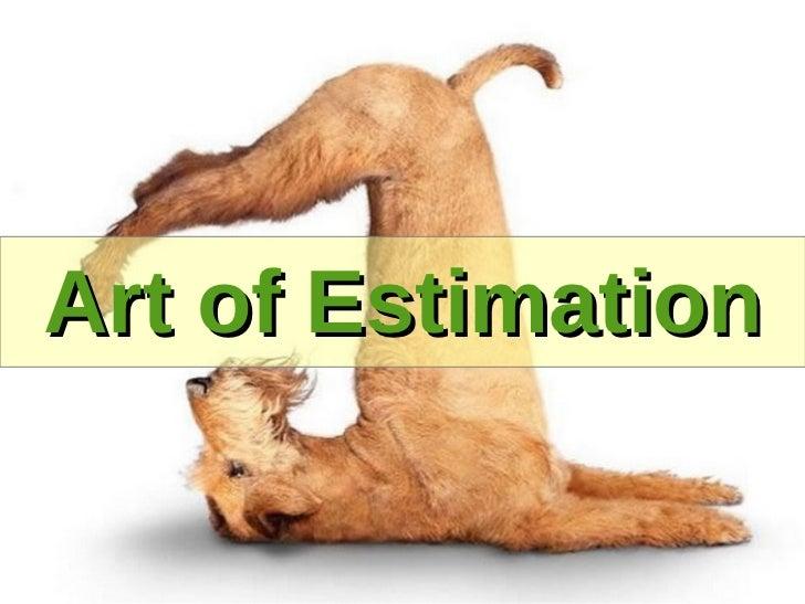 Art of Estimation. Vlad Savitsky