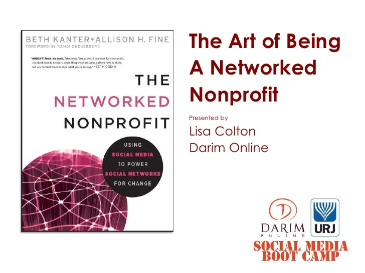 URJ Social Media Boot Camp: Art of Being a Networked Nonprofit