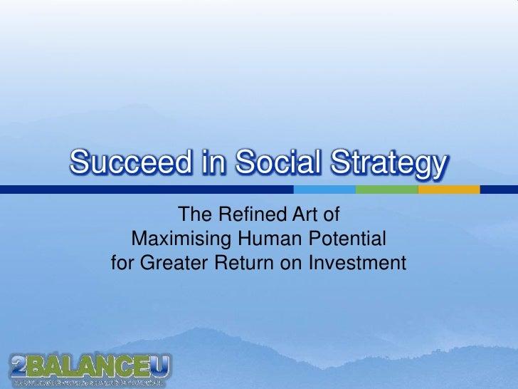 Art Of Social Strategy