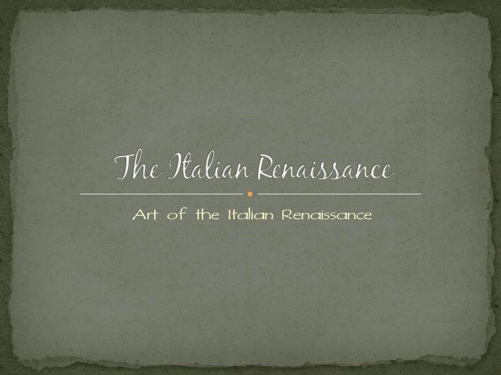 Art of the Italian Renaissance
