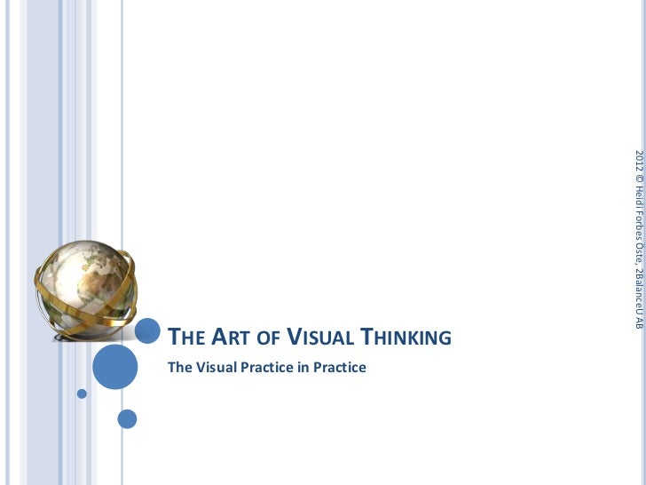 2012 © Heidi Forbes Öste, 2BalanceU ABTHE ART OF VISUAL THINKINGThe Visual Practice in Practice