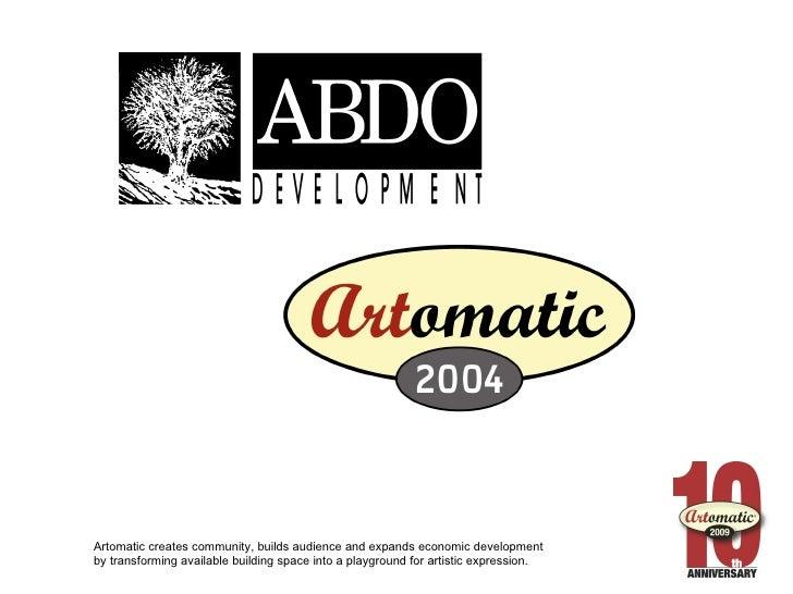 Artomatic 2009 Ignite
