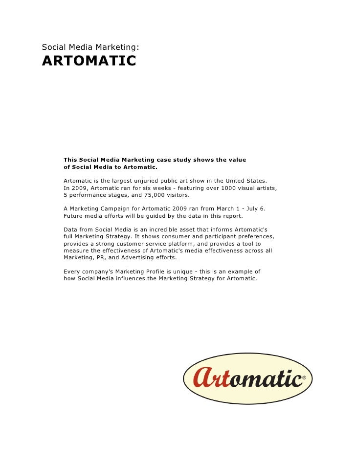 Social Media Marketing @ Artomtatic