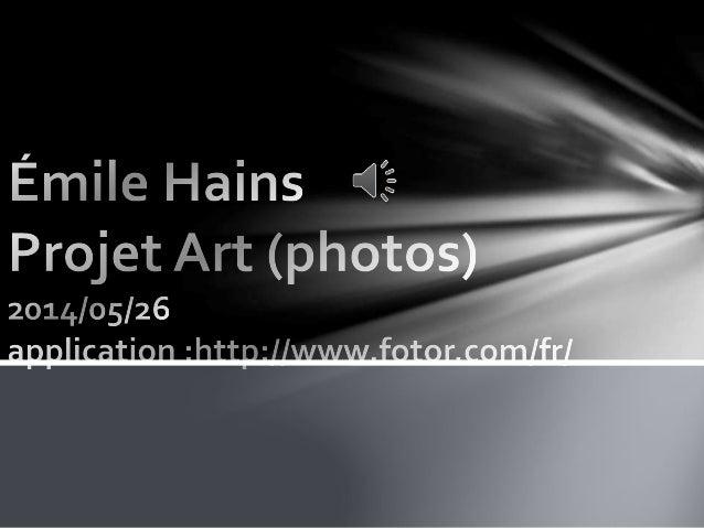 Pour mon projet photo, j'ai surtout navigué dans les effets lumineux. Jouer entre le noir, le bleu et l'éclairage très pré...