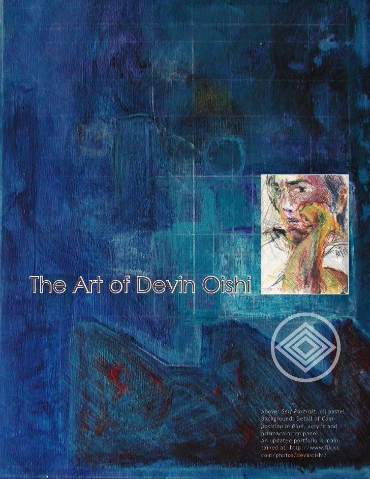 The Art of Devin Oishi                              Above: Self Portrait, oil pastel                          Background: ...
