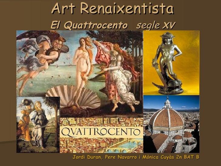 Quattrocento Art renaixentista IES Maremar