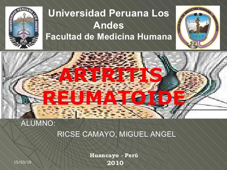 Artritis reumatoide (pdf)