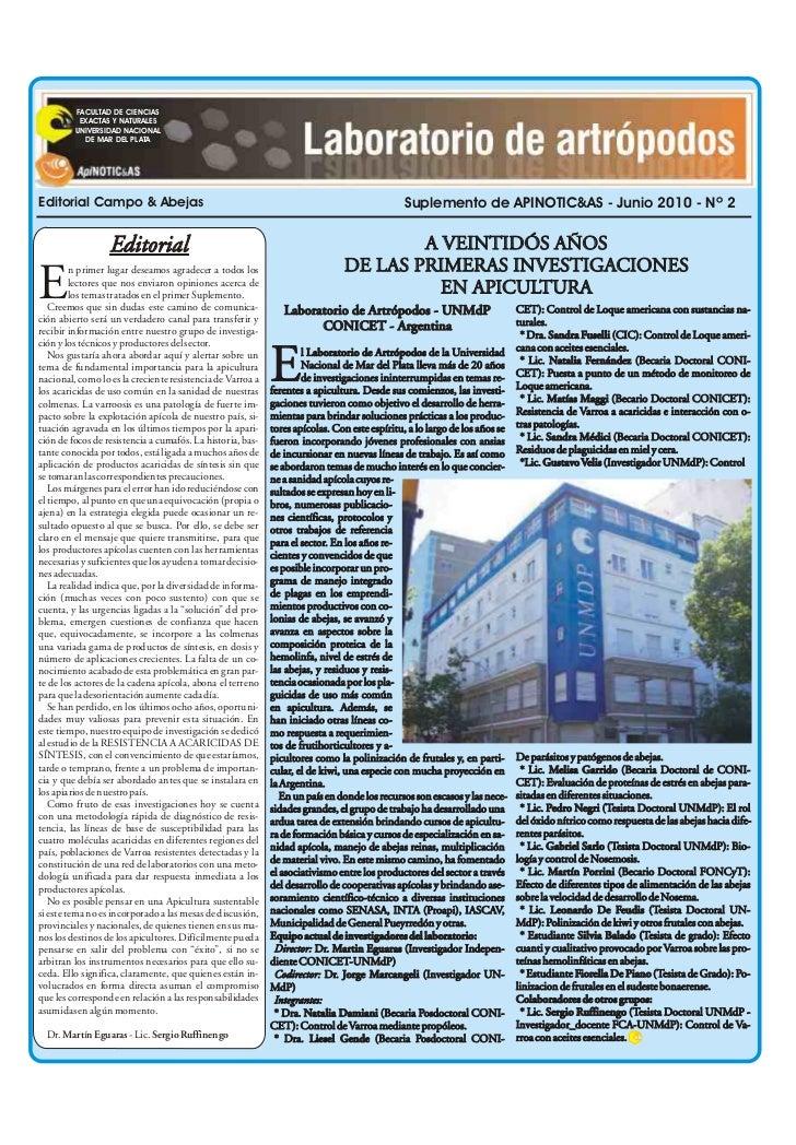 FACULTAD DE CIENCIAS          EXACTAS Y NATURALES         UNIVERSIDAD NACIONAL           DE MAR DEL PLATAEditorial Campo &...