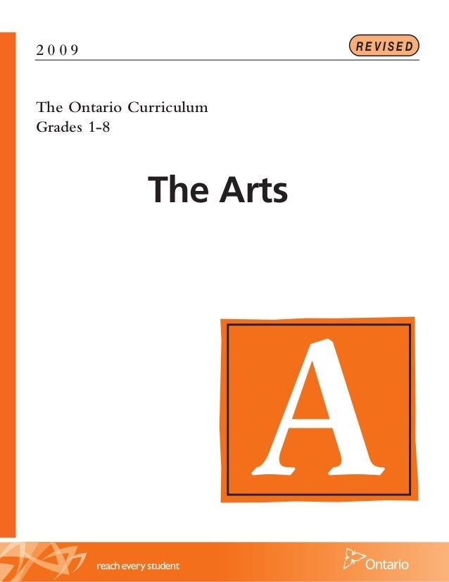 REVISED  2009  The Ontario Curriculum Grades 1-8  The Arts