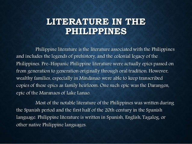 filipino literary essays Philippine literature (timeline) john harold bagay ab-psychology mrs medina philippine literature philippine literature is a diverse and rich group of works that has evolved side-by-side with the country's history.