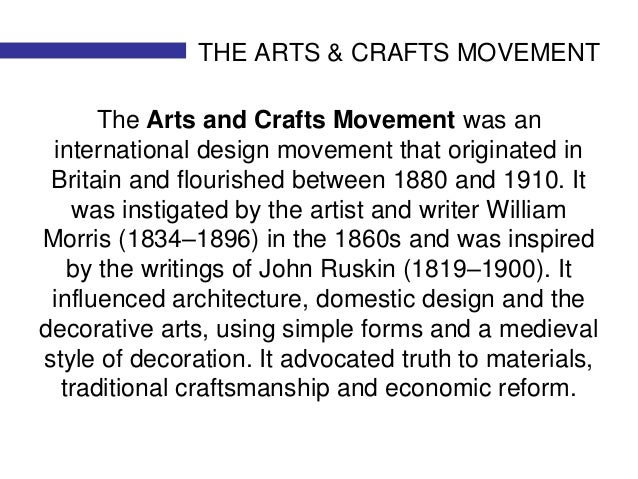 """a history of the arts and crafts movement an international movement in the decorative and fine arts Including its features and where to see the arts and crafts movement in the us fine decorative arts """"a brief history of art for visitors to."""