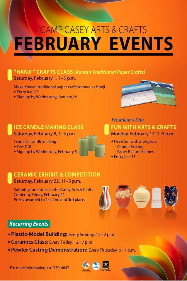 Arts & Crafts February 2014 Events