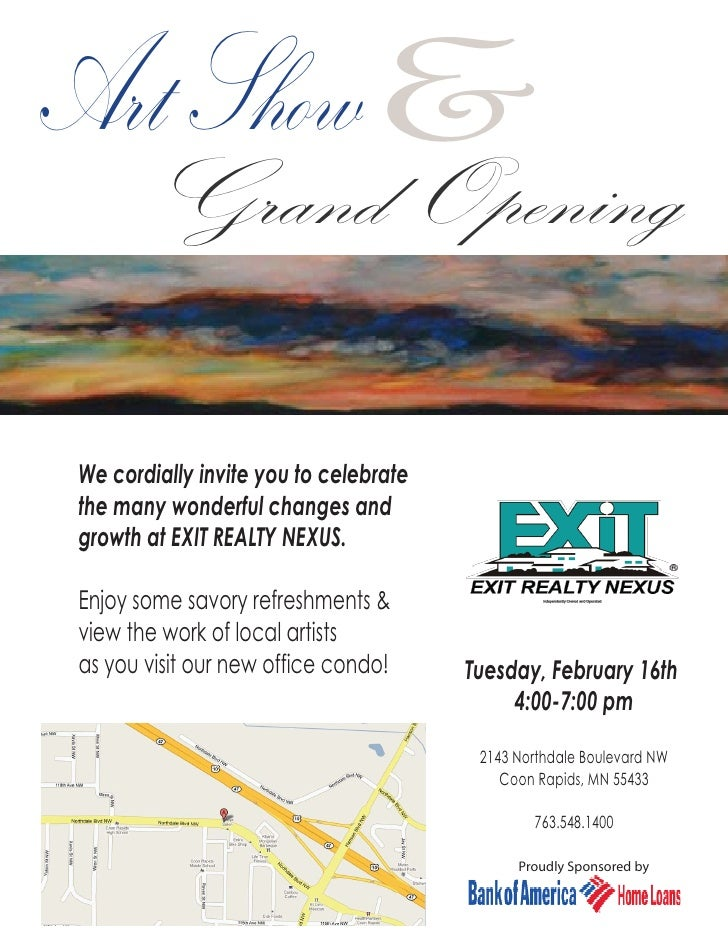 Art Show And Grand Opening