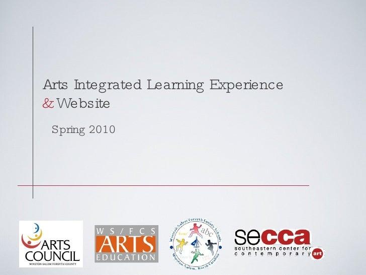 Arts Integrated Exp 1.8