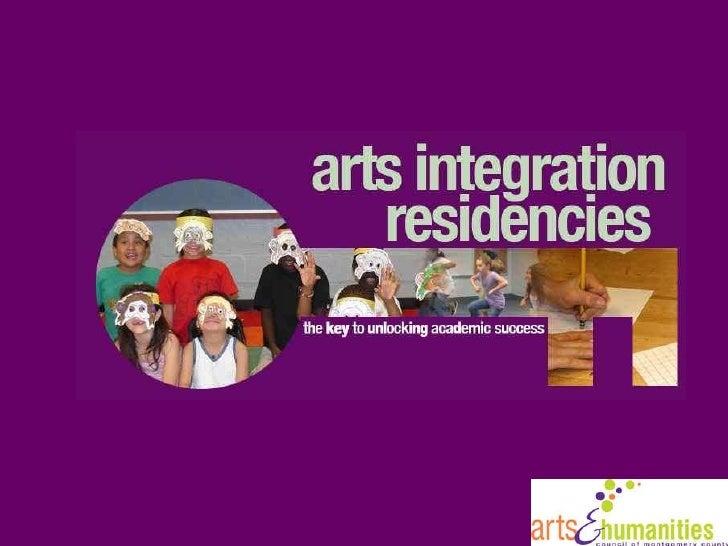 Arts Integration Residencies Overview