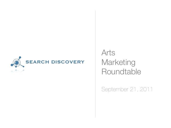 Atlanta Arts Marketing Roundtable 09/21/11