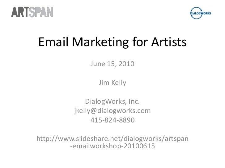 ArtSpan Workshop: Email Marketing for Artists