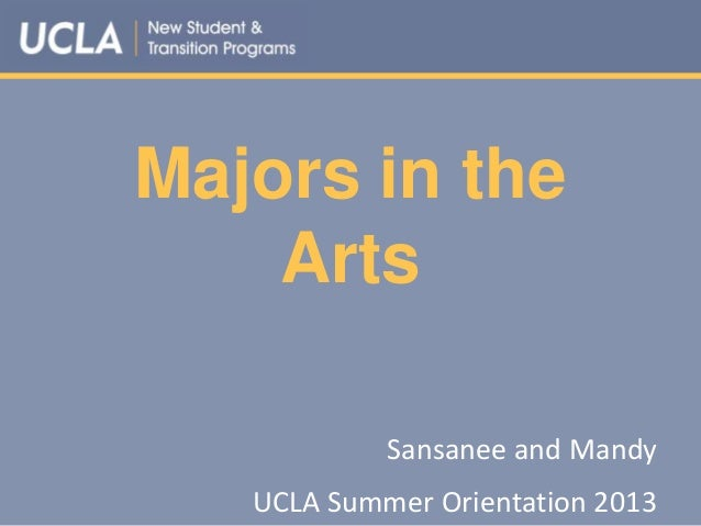 Majors in the Arts Sansanee and Mandy UCLA Summer Orientation 2013