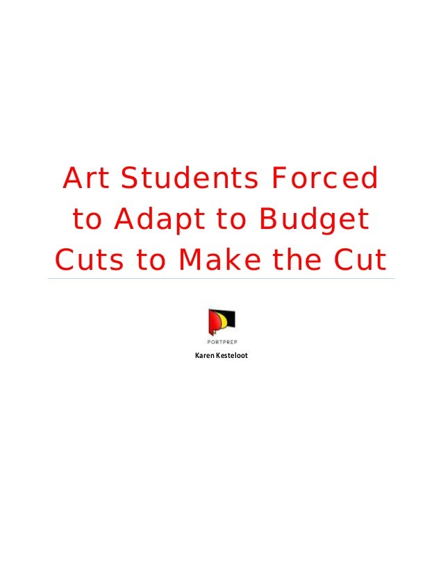 Art Students Forced to Adapt to Budget Cuts to Make the Cut