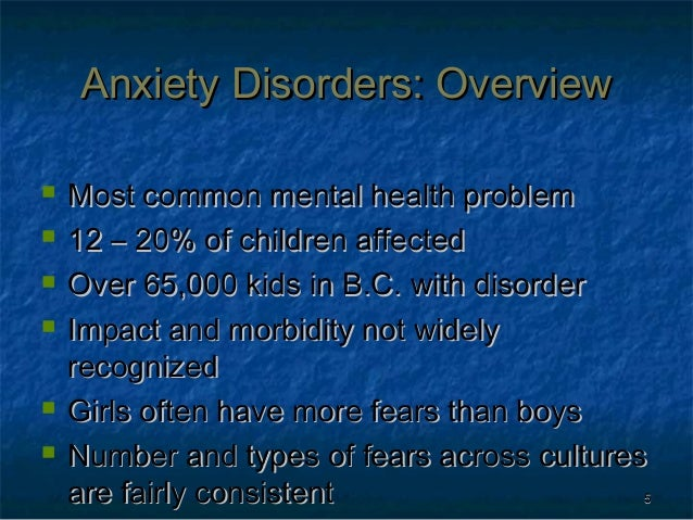cbt anxiety chart for kids