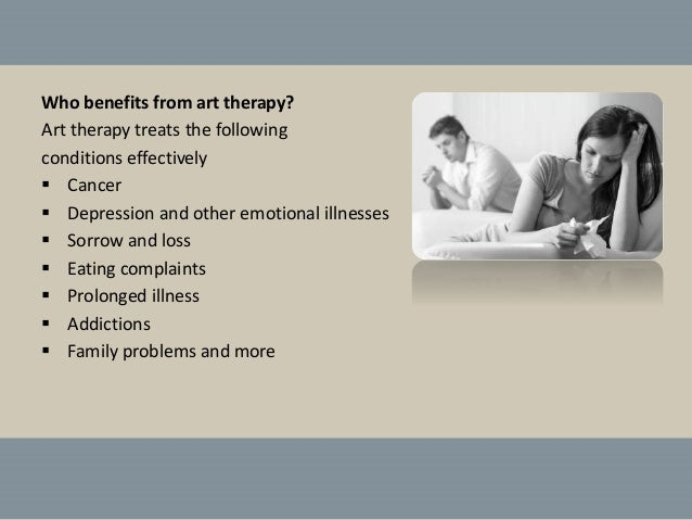 an overview of group art therapy and its benefits The therapeutic practice of art therapy is still relatively new and has not been widely used for a long duration of time in 1979, art therapy was not commonly used but carter tested its effectiveness with children who had a learning disability.