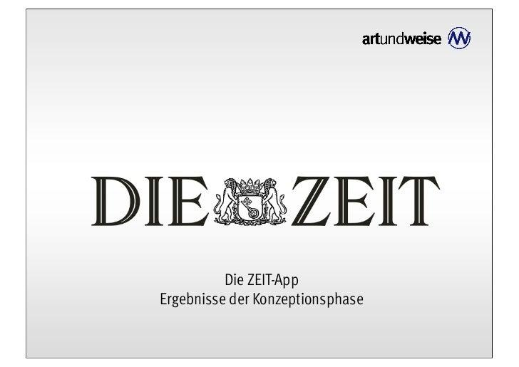 Die ZEIT-AppErgebnisse der Konzeptionsphase