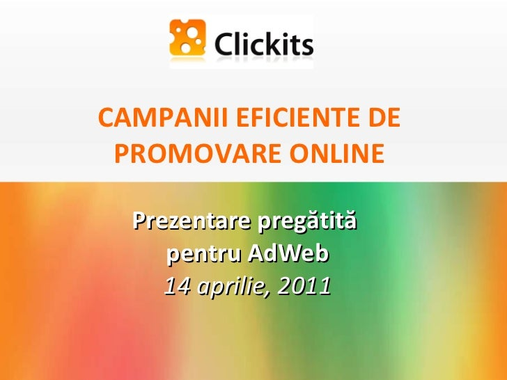 Clickits. Adweb. Campanii eficiente de promovare online