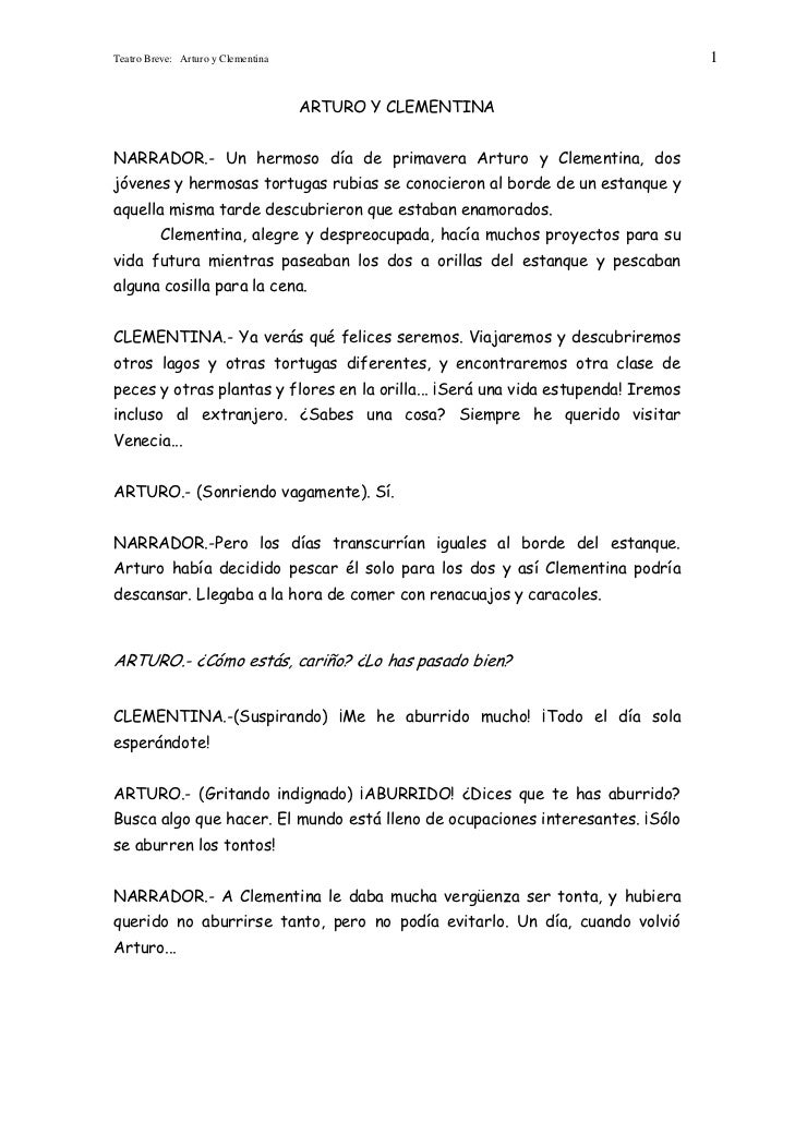Teatro Breve: Arturo y Clementina                                                 1                                    ART...