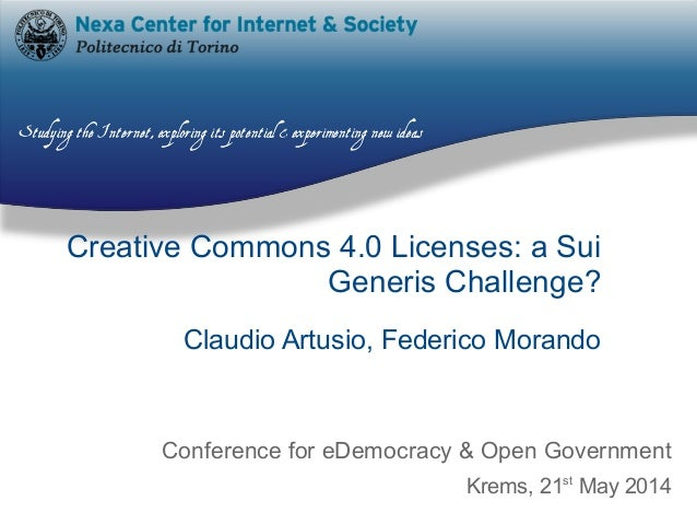 Creative Commons 4.0 Licenses