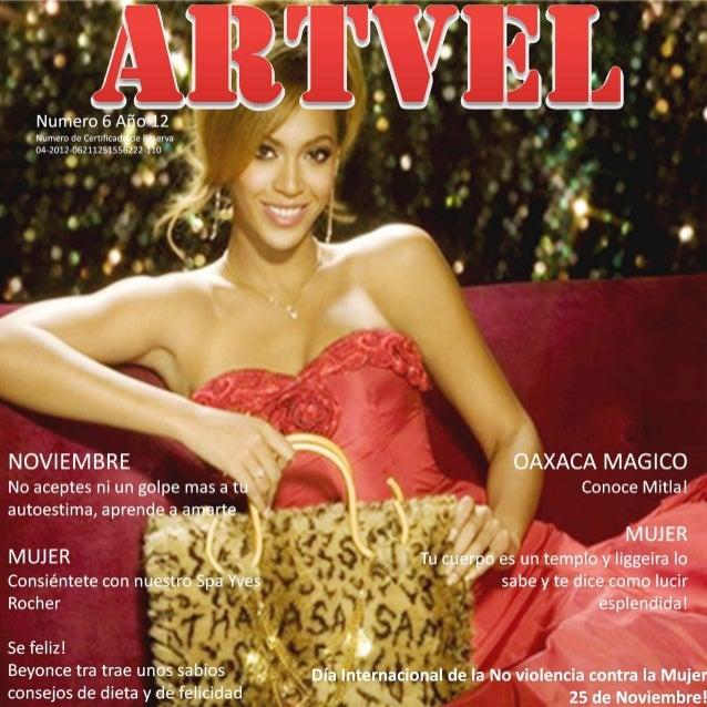 Artvel magazine Nov 2012