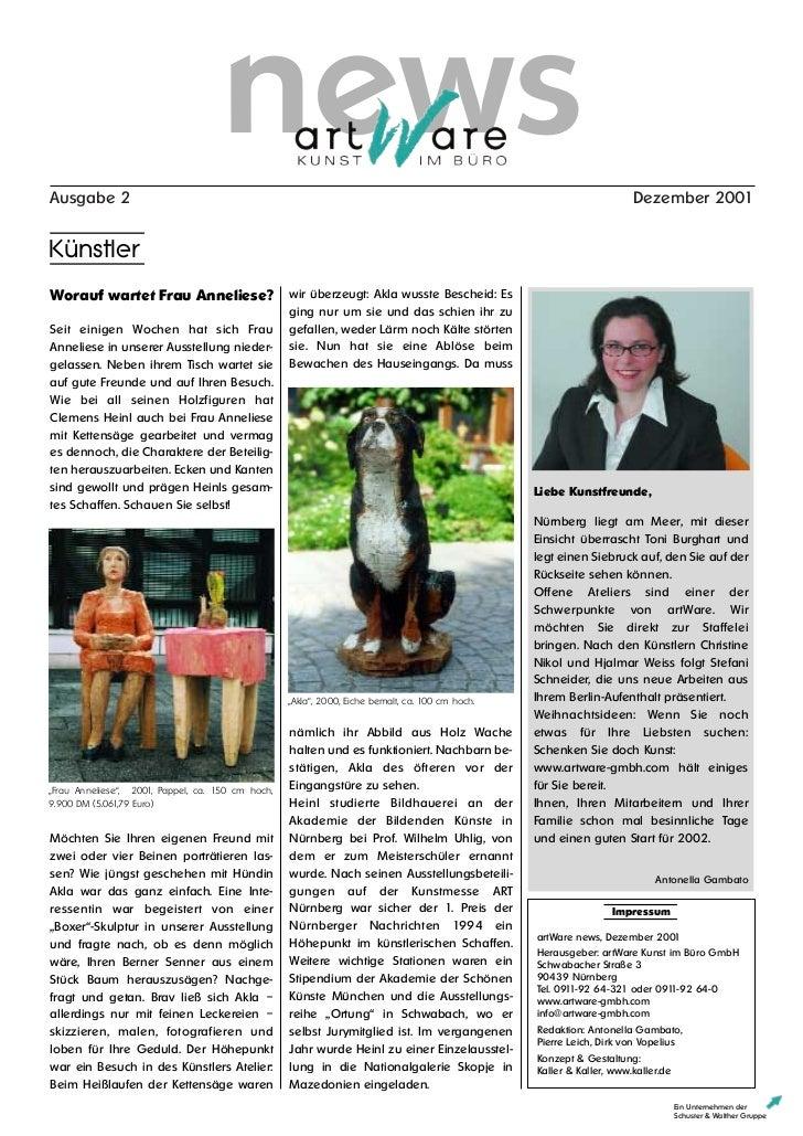 Art ware news2-2001-dezember