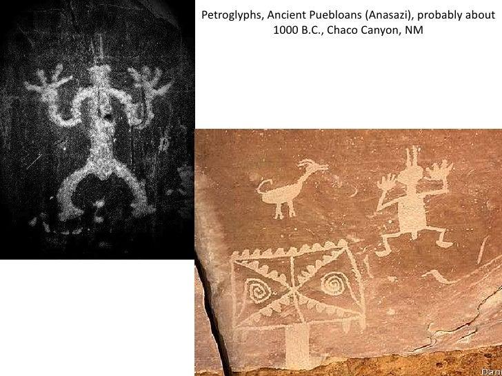Petroglyphs, Ancient Puebloans (Anasazi), probably about              1000 B.C., Chaco Canyon, NM