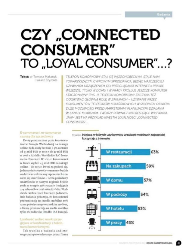 """Czy """"Connected Consumer"""" to """"Loyal Consumer""""...?"""