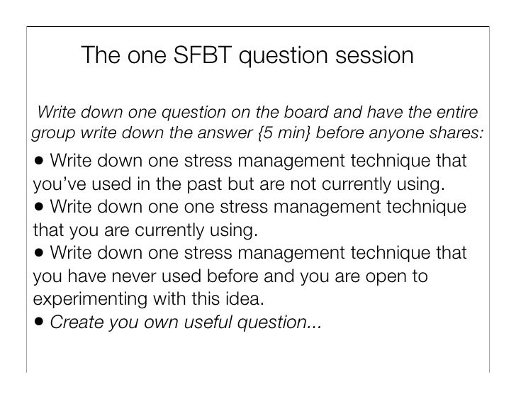 utilizing solution focused brief therapy with Family therapists using sfbt in working with clients utilize the  clients'  metaphors in solution-focused brief therapy interventions.
