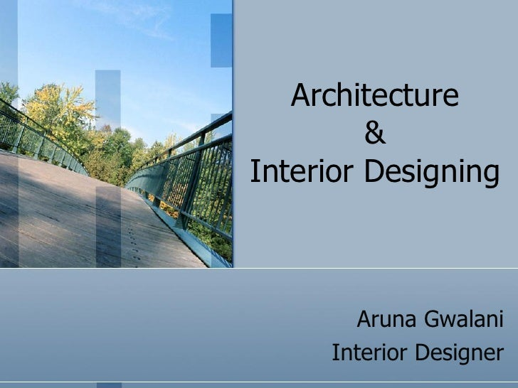 Aruna interior designing profile for Architecture and design company