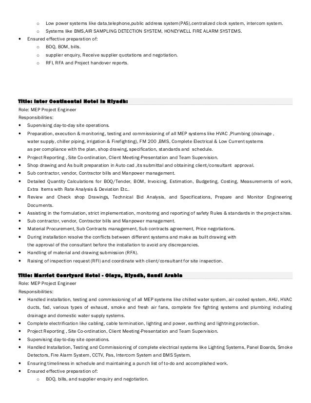 Scada system engineer resume