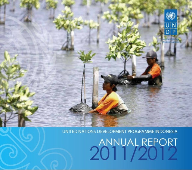 ANNUAL REPORT 2011/2012 1 2011/2012 ANNUAL REPORT UNITED NATIONS DEVELOPMENT PROGRAMME INDONESIA